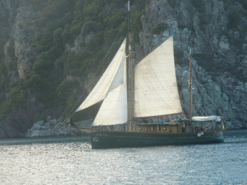An ancient sailing boat we saw on our last day