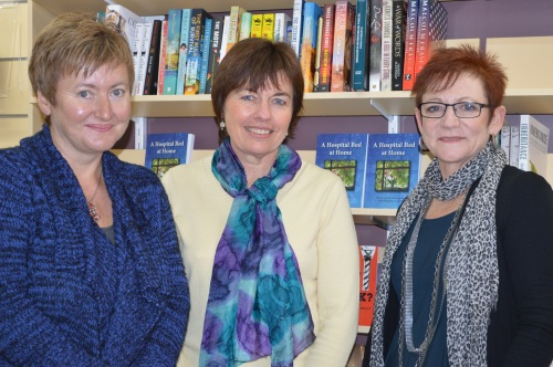 Dr Rebecca Spence, who launched the book, Dr Janene Carey, who wrote it, and Dr Glenda Parmenter, who co-supervised the PhD thesis containing the manuscript.